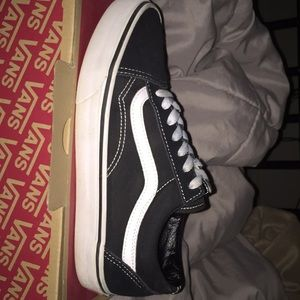 Authentic black and white old school vans.